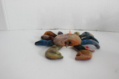 1996 Retired Ty Beanie Baby CLAUDE the crab- w/tags