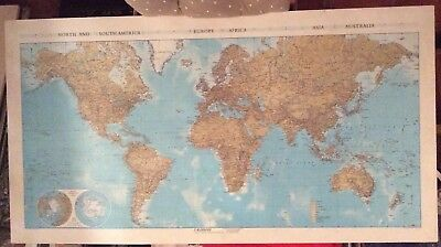 Map Of The World-North & South America,Europe,Africa,Asia,Austarlia 1:40 000 000