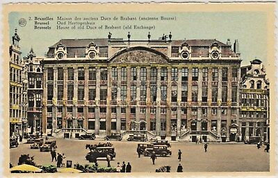 "House of Old Ducs of Brabant ""Old Exchange"" in Brussels, Belgium in Early 1900's"