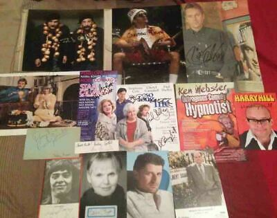 British Comedy Autograph Collection 1 - 15 Genuine Hand Signed Items