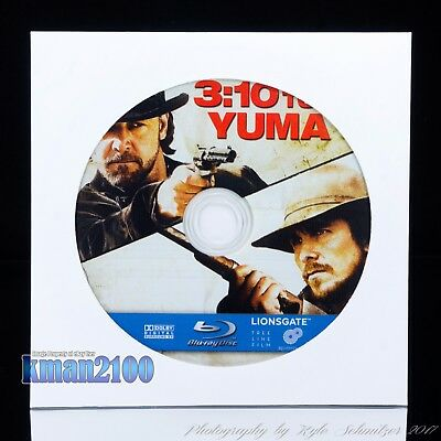 3:10 to Yuma (Blu-ray, 2008) BLU-RAY DISC ONLY...NO CASE OR ARTWORK INCLUDED