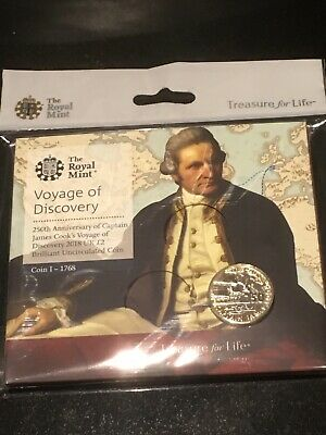 2018 Royal Mint Captain James Cook Two Pounds £2 Coin Uncirculated BU UK
