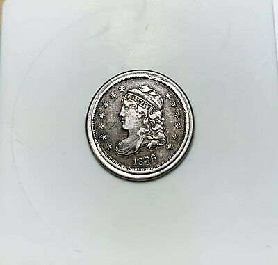 1836 Capped Bust Half Dime - Nicer Grade - Small Rim Clip - BUST - Silver - 5c