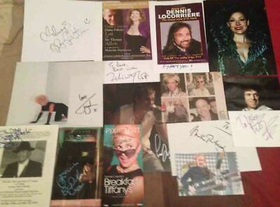 Music Autograph Collection 1 - 15 Genuine Hand Signed Items