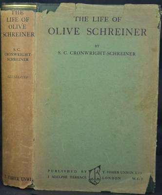 THE LIFE OF OLIVE SCHREINER 1924 1st Edition HB Dust Jacket South Africa