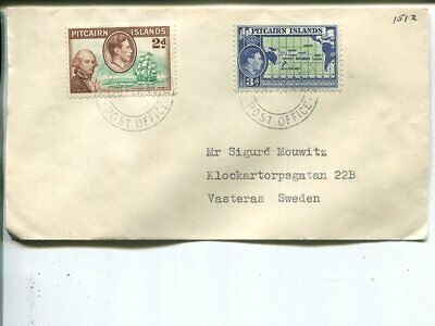Pitcairn Islands cover to Sweden 1949
