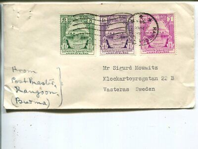 Burma cover to Sweden 1948