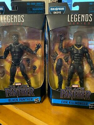 marvel legends Black Panther and Eric Killmonger lot (2) one each