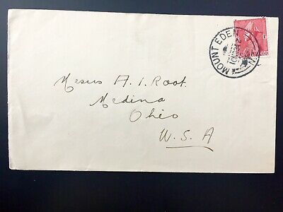 New Zealand Mount Eden commercial cover to USA cancel 1934