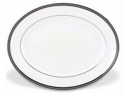 """Lenox Kate Spade New York 13"""" Oval Platter ~ Union Street ~ Excellent Condition"""