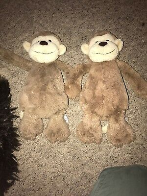 2 X Super Cute JellyCat Monkeys - Twins?? In Perfect Condition