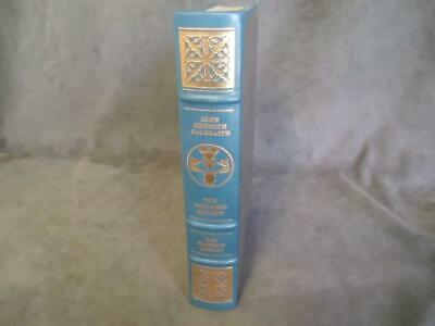 """Signed Leather Franklin Library""""The Affluent Society"""" John Kenneth Galbraith ch7"""