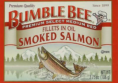 BUMBLE BEE Smoked Salmon Fillets In Oil, High Protein Food, Keto Food and Snacks