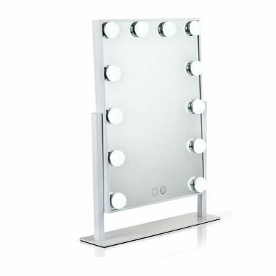 Lighted Vanity Mirror with 12 x 3W Dimmable LED Bulbs and Touch Control Design
