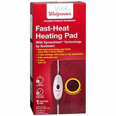 Walgreens Fast-Heat Heating Pad 2021-912 - Sunbeam