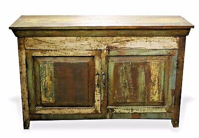 Reclaimed Indian Chest Bedside TV Stand Rustic.