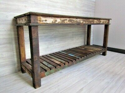 Rustic Hand Made Reclaimed Solid Wood Desk and Table