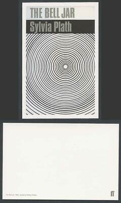Faber Book Cover Postcard THE BELL JAR 1966 Sylvia Plath Jackt by Shirley Tucker
