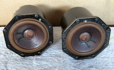 vintage octagon Philips Mid Range Speakers AD 5060/Sq 8 2422 257 35402   8ohms
