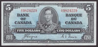 1937 Bank of Canada $5 banknote Coyne Towers  Z/C 9824229 EF40 EPQ