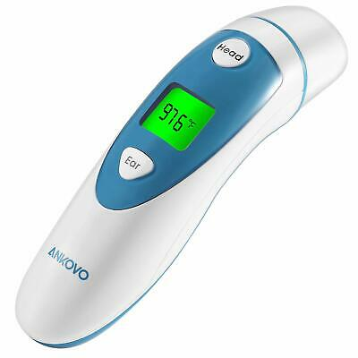 ANKOVO Digital Medical Infrared Forehead and Ear Thermometer, Fever Indicator