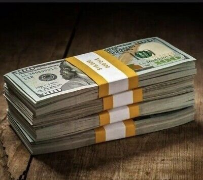 Prop Money $50,000 Highly Realistic Filler Prop Stacks Great for Filming