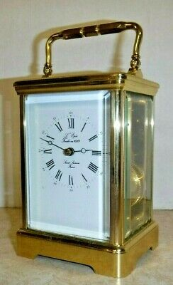 Vintage French L'epee 8 Day Carriage Clock In Good Working Order With Key