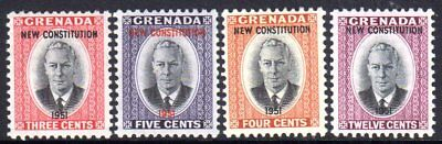 1951 GRENADA NEW CONSTITUTION SG187-190 mint unhinged