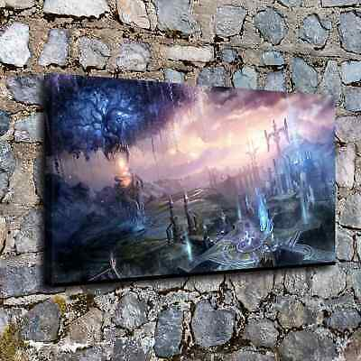 """12""""x22""""City of Fantasy HD Canvas prints Painting Home decor Picture  Wall art"""