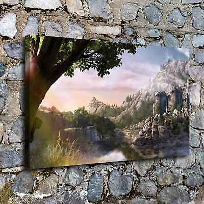 Fantasy Mountain HD Canvas prints Painting Home decor Photo Room Wall art Poster