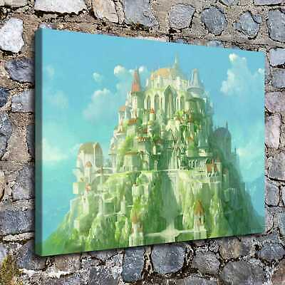 Emerald Castle HD Canvas prints Painting Home decor Poster Room Wall art Picture