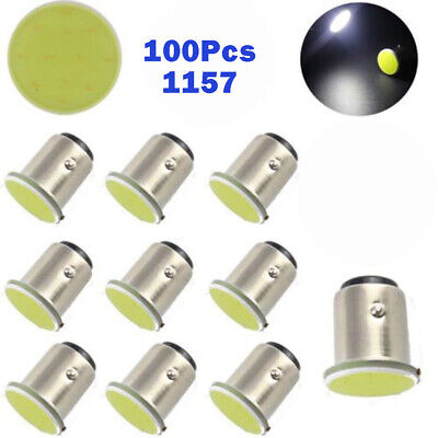 100 X White LED 1157 BAY15D 12 SMD DC 12V COB Car Brake Parking Light Bulb