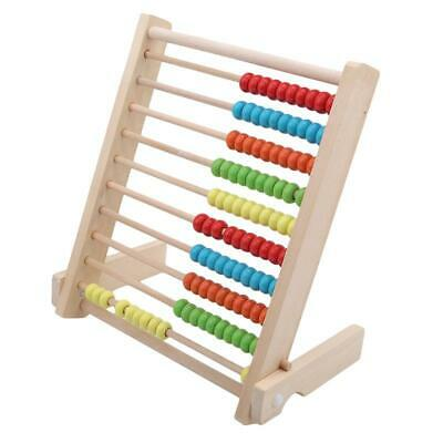 Wooden Children's Counting Bead Abacus Maths Educational Kids Eucation Toy C