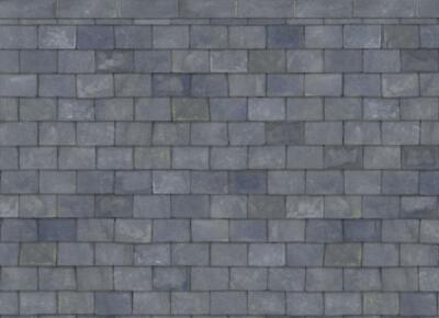 Dolls House Slate Roof Paper Miniature Print Exterior Wallpaper 1:12 Scale