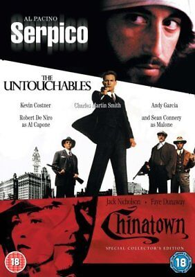 Serpico / Untouchables / Chinatown  Triple Pack   ( DVD)   ***Brand New***