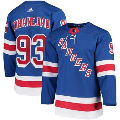 Mika Zibanejad New York Rangers adidas Authentic Player Jersey - Blue a2085708f