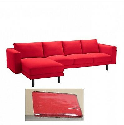 IKEA NORSBORG COVER for Sofa with Chaise Slipcover FINNSTA RED NEW NIB