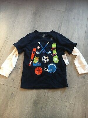 Bnwt Gap Boys Long Sleeve Top Age 4 Years Smart Top Quality