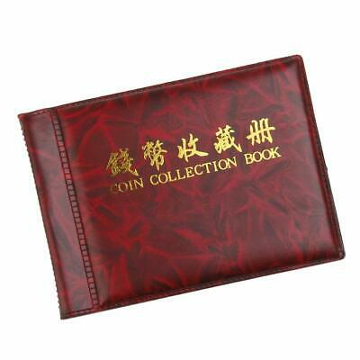 Popular Small Coin Collectors Collecting Album 60 Coin Holders Wine Red 1Pc