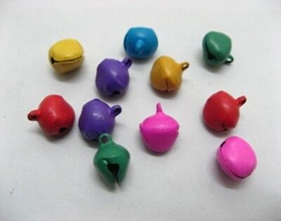 500 Jingle Bell Pendants Charms for Craft Mixed Colour ac-pe254
