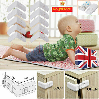 10pcs Baby Kids Pet Protector Safety Lock Proof Cabinet Drawer Fridge Cupboard