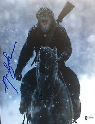 Beckett certified signed photo War For The Planet Of The Apes Andy Serkis Caesar