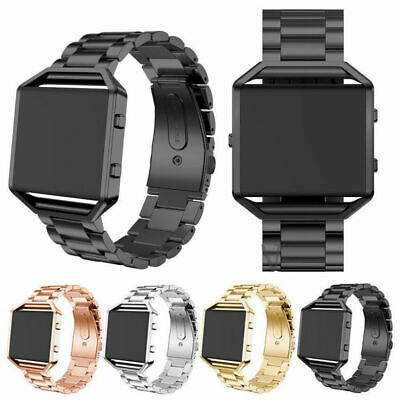 Stainless Steel Metal Link Clasp Band Strap + Frame For Fitbit Blaze Watch UK!!!
