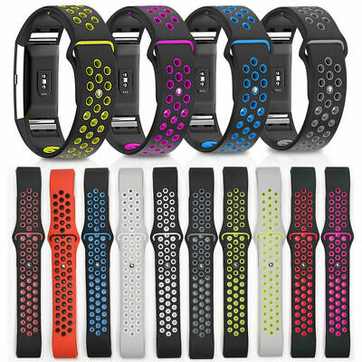 Sport Replacement For Fitbit Charge 2 Silicone Watch Band Bracelet Strap Soft UK