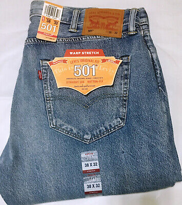 Nwt Mens Levi'S 501 -2625 Original Button Fly Straight Warp Stretch Jeans Pant