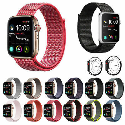 Woven Nylon Sport Loop Band Strap Bracelet For iWatch Apple Watch Series 4/3/3/1