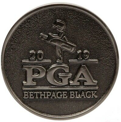 2019 PGA Championship (BETHPAGE BLACK) Large TWO SIDED -SILVER- Golf BALL MARKER