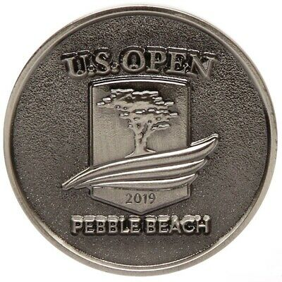 2019 US Open (PEBBLE BEACH) Large TWO SIDED - SILVER - LOGO Golf BALL MARKER