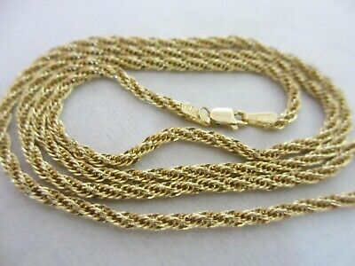 2.4 grams 14K YELLOW GOLD SCRAP or WEAR 14K ROPE NECKLACE.
