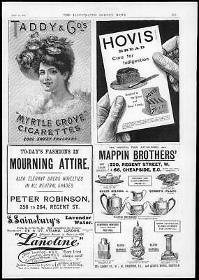 1894 Antique Print  Advertising - Hovis Bread Mappin Brothers Myrtle Grove (61)